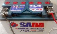 SADA 74Ач б/у